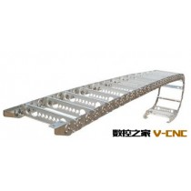 厂家直销数控钻镗床行程护线钢制拖链